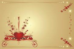 valentiner för bakgrundsdaghjärtor Arkivfoto