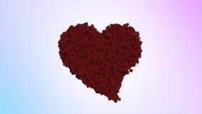 valentiner för daghjärtared stock video