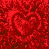 valentiner för meddelanden för förälskelse för hjärta för grunge för årsdagdatumdag praktiska Royaltyfri Illustrationer
