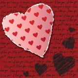 Valentiner som scrapbooking kortet Royaltyfri Bild