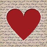 Valentiner som scrapbooking kortet Arkivfoton