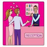 Valentines à la réception illustration de vecteur