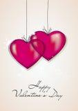 valentines дня карточки счастливые иллюстрация вектора