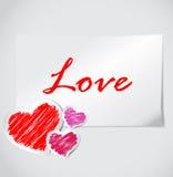 valentines дня карточки Стоковые Изображения
