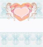 valentines дня купидона карточки счастливые Стоковое Изображение
