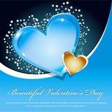 valentines дня предпосылки красивейшие голубые иллюстрация вектора