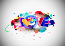 valentines дня предпосылки 3d Стоковое Изображение RF