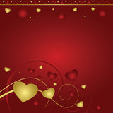 valentines красного цвета сердца предпосылки Стоковая Фотография RF