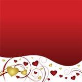 valentines красного цвета сердца предпосылки Стоковые Фотографии RF