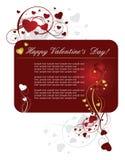 valentines красного цвета сердца предпосылки Стоковое Изображение