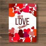 valentines дня карточки счастливые вектор предпосылка рогульки с сердцами Иллюстрация вектора