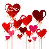 valentines дня карточки счастливые вектор предпосылка рогульки Иллюстрация штока