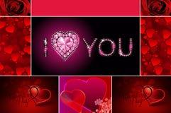 valentines дня карточки счастливые стоковая фотография