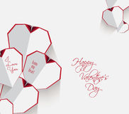 valentines дня карточки счастливые иллюстрация штока