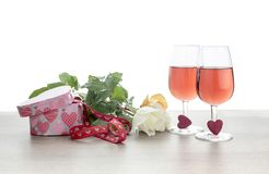 valentines праздника дня состава знамени Стоковое Изображение RF