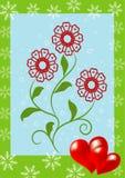 valentines предпосылки флористические Стоковое Изображение RF