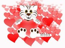 valentines предпосылки Стоковое Изображение