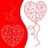 valentines предпосылки Стоковые Изображения RF