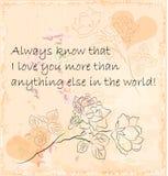 valentines приветствию дня карточки Стоковое Изображение RF