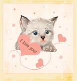 valentines приветствию дня карточки иллюстрация штока