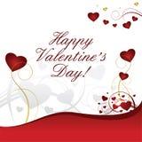 valentines сердца предпосылки красные белые Стоковая Фотография RF