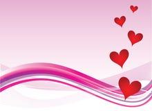 valentines сердца предпосылки Стоковое Изображение RF