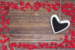 valentines сердец дня предпосылки Тонизированный, мягкий фокус Стоковая Фотография