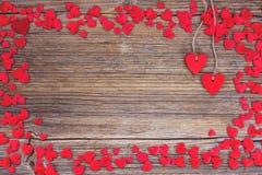 valentines сердец дня предпосылки Тонизированный, мягкий фокус Стоковые Изображения