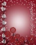 valentines сердец дня граници Стоковая Фотография