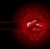 valentines сердца grunge дня Стоковое Изображение
