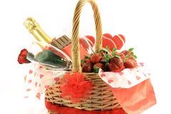valentines 1 дня корзины Стоковые Изображения