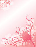 Valentines. Original illustration done in soft pinks. Perfect for Valentine's Day Royalty Free Stock Photos