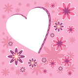 Valentines. Card with the image of heart and flowers Royalty Free Stock Photography