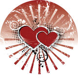 Valentines. Background. Can be used as a postcard Royalty Free Stock Photo