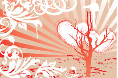 Valentines. Background. Can be used as a postcard Stock Images