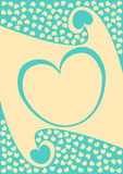 волна valentines сердца рамки дня карточки граници Стоковые Фото
