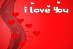 Valentines. Greeting card, I Love you Stock Images
