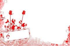 Valentines. Greeting card, I Love you stock illustration