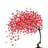 Valentines abstract tree with hearts Royalty Free Stock Photo