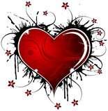 Valentines abstraits conception, vecteur illustration libre de droits