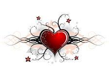Valentines abstraits conception, vecteur Images libres de droits