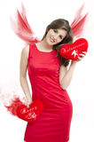 Valentines Angel Girl Royalty Free Stock Photography