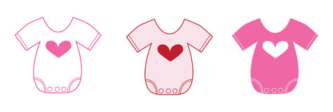 Valentines Baby Clothes Royalty Free Stock Photo