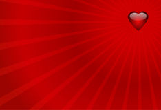 Valentines background. Red heart on the stripes background Royalty Free Stock Photo