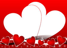 Valentines background. With heart illustration Stock Photos