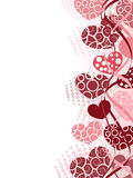 Valentines background. With different pink hearts Stock Images
