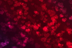 Valentines background. Heart shapes with bokeh effect as background royalty free illustration