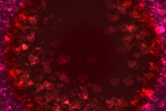 Valentines background. Heart shapes with bokeh effect as background stock illustration