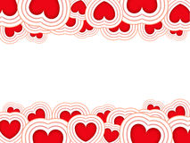 Valentines background. With red hearts isolated on a white background royalty free illustration