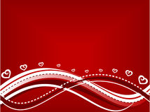 Valentines background. Abstract wavy valentines day background in red and white Stock Photography